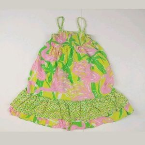 Lilly Pulitzer flamingos floral girl dress 2t pink
